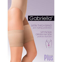 Jartiera Gabriella Satin Thigh Band  Plus Size